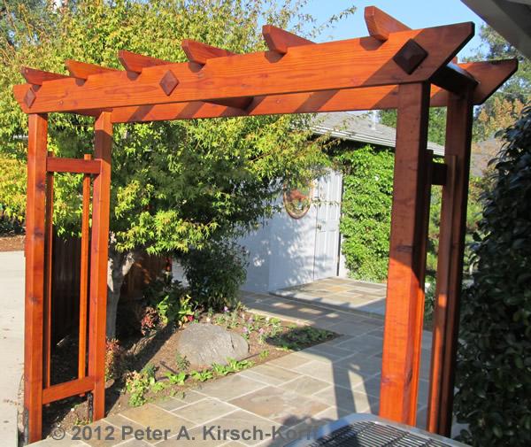 Unique Arbor Gate: Custom Garden Enclosure With Arbor