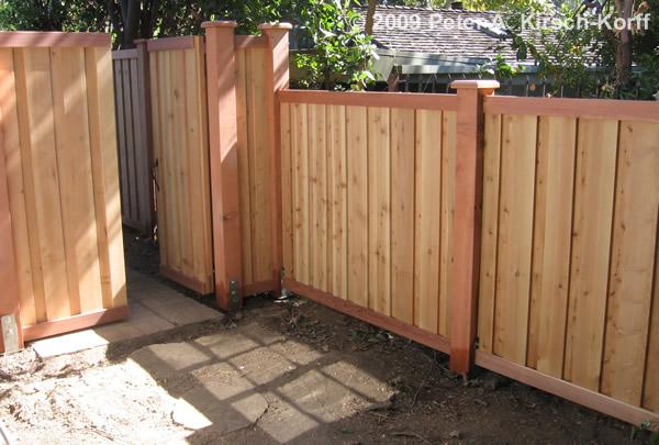 Modern Vertical Cedar Amp Redwood Fence Amp Gate Encino Van