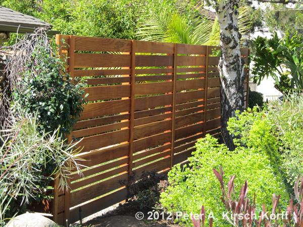 Custom Modern Horizontal Wood Fence Altadena Arcadia
