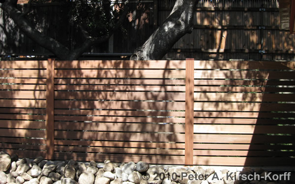 Custom Modern Horizontal Wood Fence Pasadena La Canada