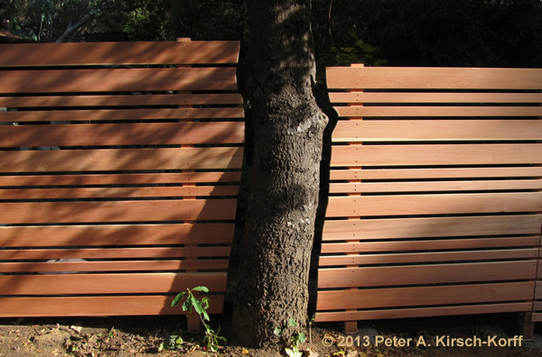 High End Wood Fence Laurel Canyon Ca