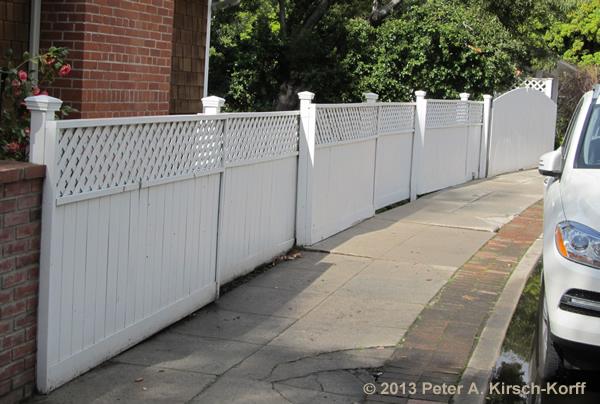 Custom Open Slat Modern Redwood Fence Lake Hollywood Ca