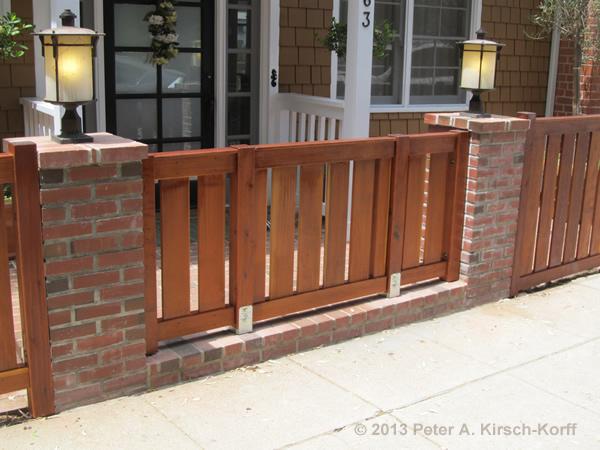 CA Custom Modern Open Slat Style Redwood Fence