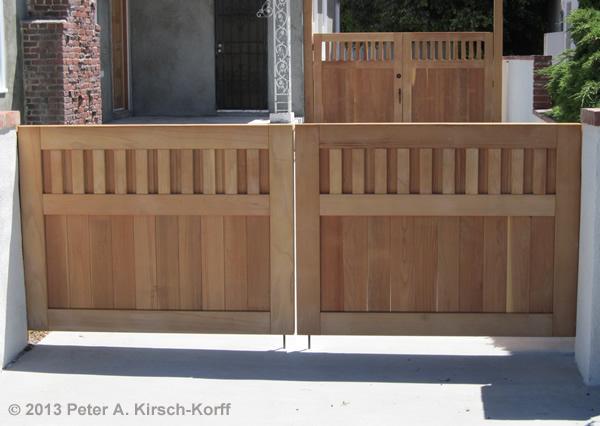 South Bay Craftsman Wood Driveway Amp Side Gates Santa