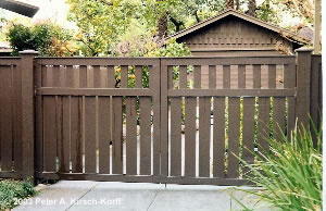 wooden driveway gate plans